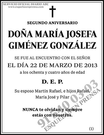 María Josefa Giménez González